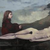 "Hedone  (hermaphrodite portrait #1) oil on canvas.  60"" 48"" 2010"