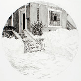 "Flint, graphite on paper, 9""x9"", 2009"