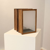 Discrete Entrance (Sculpture Detail), 2011 Variable Heights Glass, House Paint on Wood