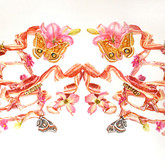 """Bacon Wreath No. 4 Watercolors on paper 30"""" x 50"""""""