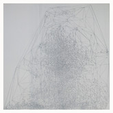 """Connected: #1 Sceenprint, graphite 30"""" H x 30"""" W 2009"""