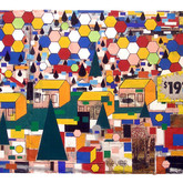 "Native Landscape 2011 Mixed Media on Panel 24"" x 72"" x 4"""