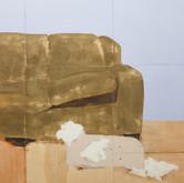 Title: Thin Walls: Sudden Silence DETAIL Medium: Acrylic, wood panel Size: 8' x 14'