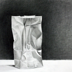 """Beginning Drawing, Project: Edge Without Line Investigation  Charcoal 18"""" x 24"""""""