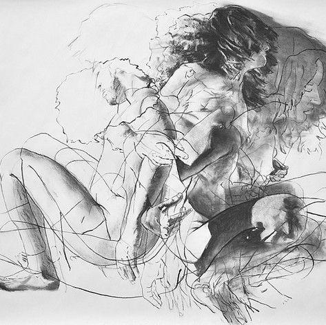 Untitled (Study) 2013 charcoal on paper