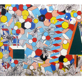 """Kudzu Jungle 2011 Acrylic and Collage on Constructed Panel 24"""" x 36"""" x 12"""""""