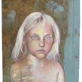 "Puella Oil on panel.   15.5"" x 31"