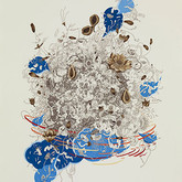 """ntueri I.  30""""x 22"""".  2011.  Mineral pigment, micro pigment pen and walnut ink on paper."""