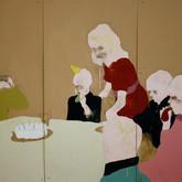 Title: Thin Walls: Birthday Medium: Acrylic, wood panel Size: 4' x 6'