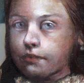 "Insolently Shrieking oil on canvas. (detail) 60"" x 48"" 2008"