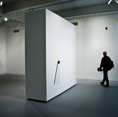 Permission Need Not Be Granted For A Space With No Volume (Installation and Detail), 2010 Height: Variable House Paint on Wall