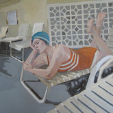 "Poolside II, 36x36"", Oil on Canvas, 2010"