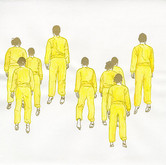 "Erma Series: Leaving, 2012, 12""x 12"", mixed media drawing on paper"