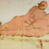 Title: Thin Walls: Not Really Alone Medium: Acrylic, wood panel Size: 4' x 8'