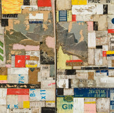"""Saluda (detail) 2008 Acrylic and Collage on Panel 24"""" x 56"""" x 4"""""""