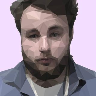 "Intro to Digital Design, Project: Adobe Photoshop Low-poly Self-portrait Adobe Photoshop CC File 11"" x 17"""