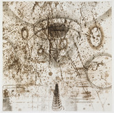 """Fractured 11 ¾"""" x 11 ¾"""" Etching"""
