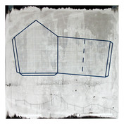 """An Array of Plausible Perspectives: #4 Sceenprint, letterpress, carbon transfer, collage, graphite 30"""" H x 28"""" W 2006"""