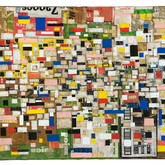 """Transcription 2009 Acrylic and Collage on Panel 36"""" x 48"""" x 4"""""""