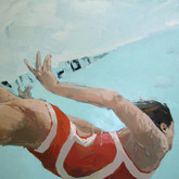 "Underwater, descend, 48x36"", Oil on Canvas, 2010"