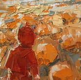 """little study pumpkin, oil on panel, 2"""" x 3.25"""", 2010"""