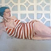 "Sunbathing; Florida II, 30x40"", Oil on Canvas, 2010"