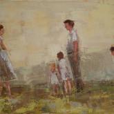 "the edge, oil on linen, 16"" x 12"", 2010"