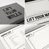 """Lift Your Walls (Instruction Book), 2012 Height: 8.5"""" Hand Bound Zine"""