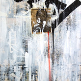 "John Chang ""Embrace the Chaos"" 3 Size: 36"" x 60"" Mixed Media 2009-2010"
