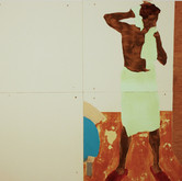 Title: Thin Walls: What was That? Medium: Acrylic, wood panel Size: 4' x 8'