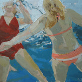 "Two float, 16x312"", Oil on Canvas, 2010"