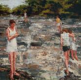 "river rapids, oil on linen, 16"" x 20"", 2010"