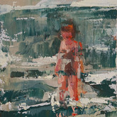 "little study ocean waves, oil on panel, 2"" x 3.25"", 2010"