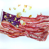 """Flag Watercolors on paper 25"""" x 33"""""""
