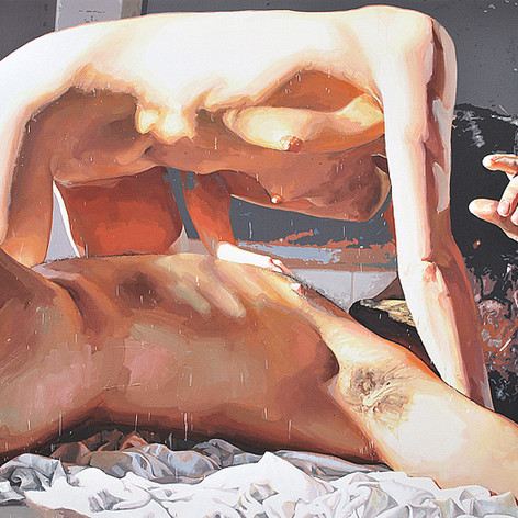Icarus II 2013 oil on linen 58 x 80 inch