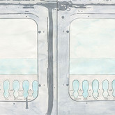 "Erma Series: Lift Away , 2012, 12""x 24"", mixed media drawing on paper"