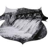 "Ludington Dam, graphite on paper, 11""x14"", 2012"