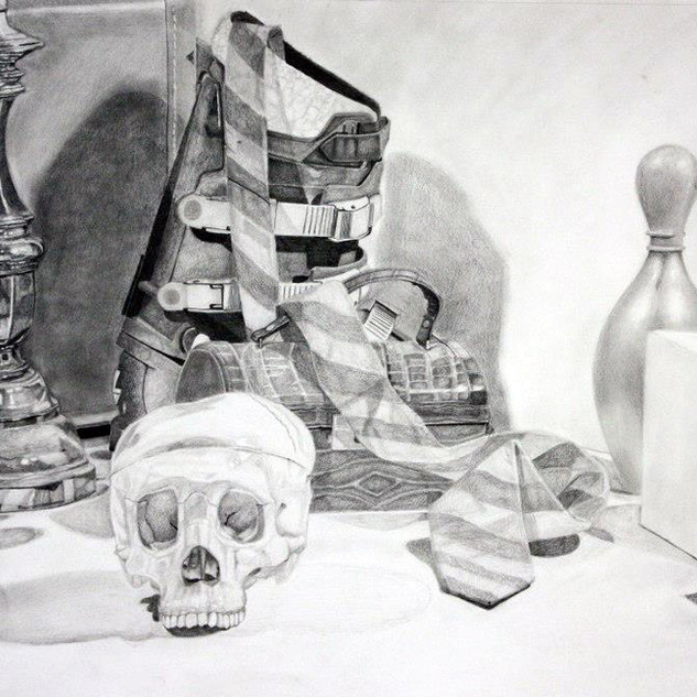 "Beginning Drawing, Project: Final Drawing Graphite 18"" x 24"""