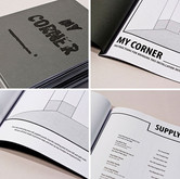 """My Corner ____ (Instruction Book), 2012 Height: 8.5"""" Hand Bound Zine"""