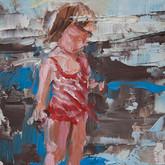 "little study martha beach, oil on panel, 2"" x 3.25"", 2010"