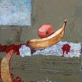 "Fruit Oil on panel. 13"" x 13"""