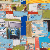 """Jumble (detail) 2009 Acrylic and Collage on Panel 24"""" x 24"""" x 2"""""""