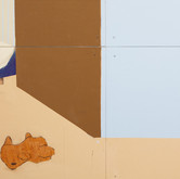 Title: Thin Walls: They Stopped DETAIL Medium: Acrylic, wood panel Size: 8' x 14'