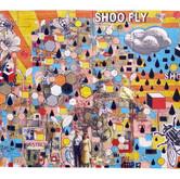 "Shoo Fly 2011 Mixed Media on Panel 36"" x 48"" x 4"""