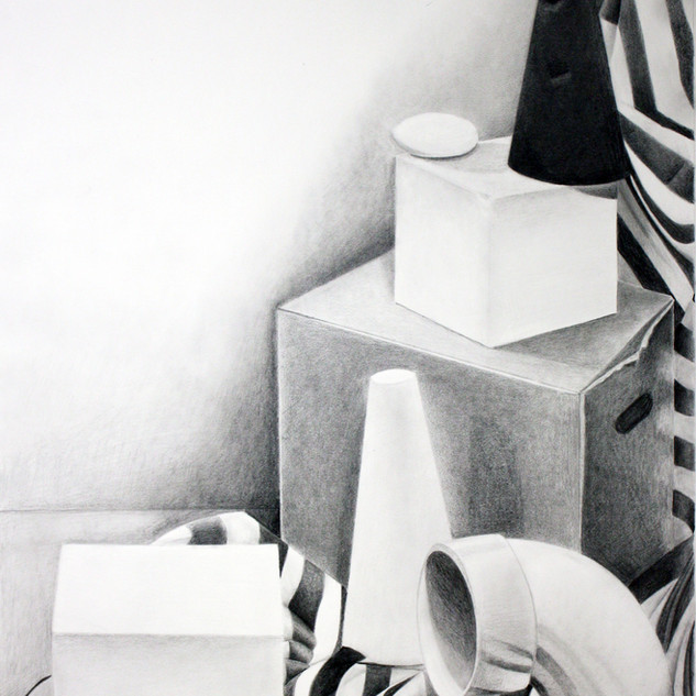 "Beginning Drawing, Project: Perspective Investigation  Graphite 18"" x 24"""