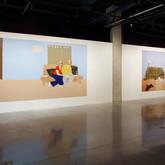 Title: Thin Walls: INSTALLATION SHOT Medium: Acrylic, wood panel