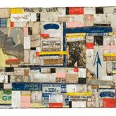 "Saluda 2008 Acrylic and Collage on Panel 24"" x 56"" x 4"""