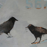 "567 Crow, 24x18"", Oil on Canvas, 2009"