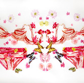 """Bacon Lingerie Watercolors on paper 30"""" x 50"""""""