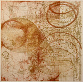 """Particle Shower 11 ¾"""" x 11 ¾"""" Etching"""